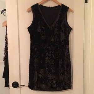 ROMEO AND JULIET NWT black velvet sequin dress M